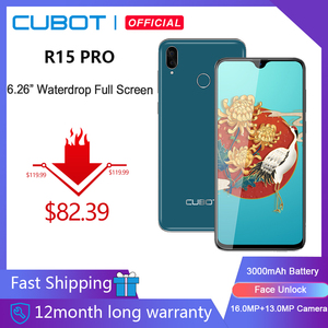Смартфон Cubot R15 Pro, 6,26 дюйма, 3 + 32 ГБ, Android 9,0 Pie, двойная камера 16 МП, Face ID, 4G LTE, 3000 мАч