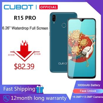 "Cubot R15 Pro Smartphone 6,26 ""de agua Pantalla Completa 3GB + 32GB Android 9,0 de doble cámara 16MP identificación facial Cellura 4G LTE 3000mAh"
