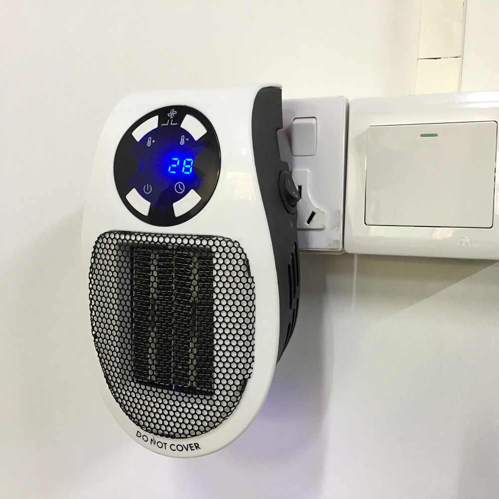 נייד חשמלי שימושי דוד חבר קיר דוד חדר חימום תנור ביתי רדיאטור מרחוק חם מכונת 500W מכשיר