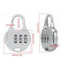 1/7pc 3 Digit Combination Padlock Number Code Password Security Travel Safe Lock  цена 2017