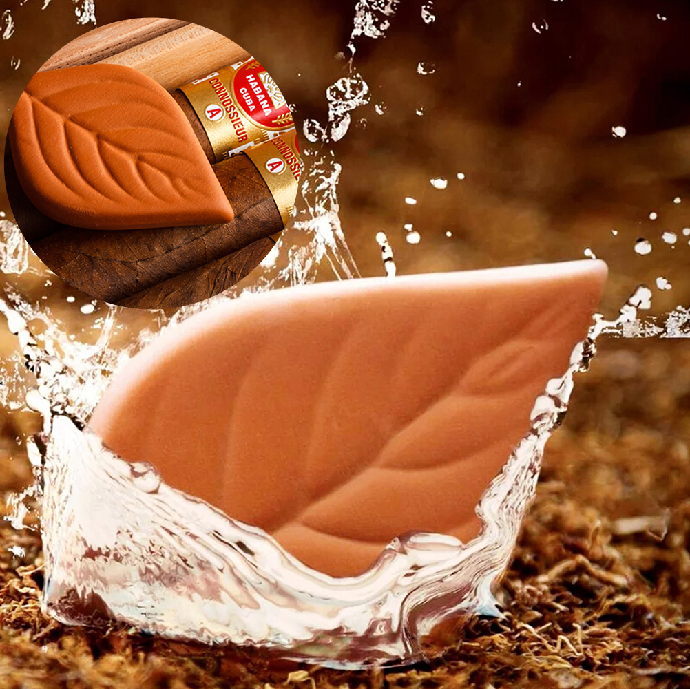 100% Natural Tobacco Hydrostone Leaf Clay Conditioning Humidity For Cigar Humidor Humidifier Smoking Tool Moisturizer