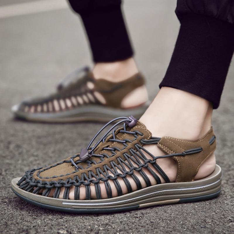Men Beach Shoes Weaving Sandals Outdoor Summer Casual Shoes Roman Sandals TC21