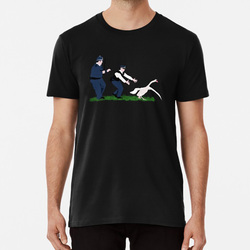 Cygne flics t-shirt chaud Fuzz Simon Pegg Nick Frost Swan Police Cornetto Spoof parodie film comédie