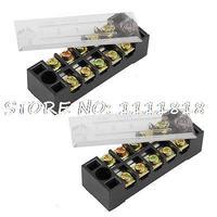 15A 600V 5 Positions 2 Rows Terminal Blocks Connecotor x 2|Terminal Blocks| |  -