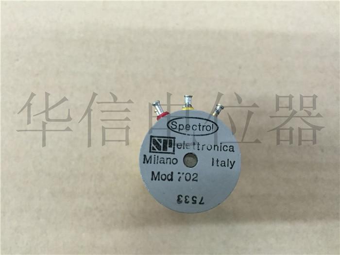 [VK] utilisé SPECTROL MOD702 5K double potentiomètre en plastique conducteur capteur d'angle diamètre de l'arbre commutateur 3MM