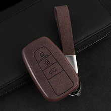 2019 New Plastic+Leather Car Key Case Cover Shell For Toyota CHR C-HR Prado Prius Camry Corolla RAV4 2017 2018 2019 Accessories for toyota camry corolla c hr chr prado 2018 aluminum alloy leather automobile car remote key case cover shell protector