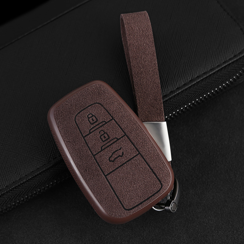 2019 New Plastic+Leather Car Key Case Cover Shell For <font><b>Toyota</b></font> CHR C-HR Prado Prius Camry Corolla <font><b>RAV4</b></font> 2017 <font><b>2018</b></font> 2019 <font><b>Accessories</b></font> image