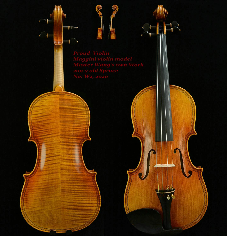 ACTUAL PHOTO Surprisingly Exceptional Violin!Master's Own Work!Maggini Violin No.W2