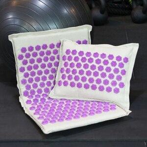 Image 5 - Procircle Acupressure Mat Pillow Set for Massage Linen Cotton Acupuncture Mat with Back Neck Bag Pain Relief Better Deeper Sleep