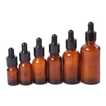 Essential oil Bottle 5ml-100ml Mini Amber Glass Liquid Reagent Pipettes Bottle Eye Dropper Empty image