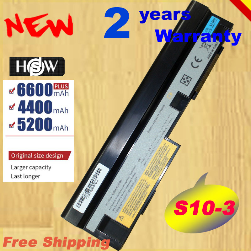 HSW Special Laptop Battery For <font><b>Lenovo</b></font> IdeaPad S10-3 <font><b>S205</b></font> U160 U165 57Y6442 L09C3Z14 L09C6Y14 L09M3Z14 L09M6Y14 L09 fast Shipping image