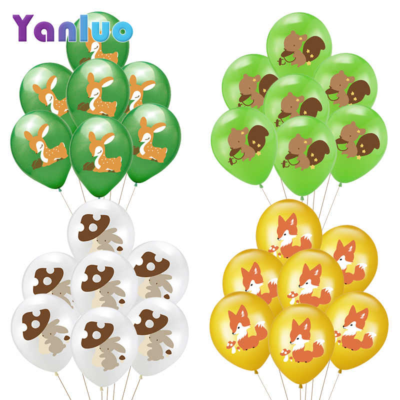 10pcs 12inch Jungle Animal Party Cartoon Leuke Latex Ballon Kids Verjaardagsfeestje Baby Shower Decoratie Helium Ballon
