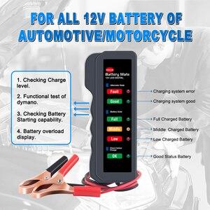 Image 5 - EDIAG Tester baterii BM310 12V miedziany kabel samochodowy cyfrowy 6 LED Light Alternator Auto analizator mocy