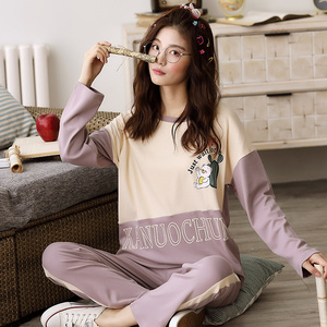 Image 4 - Womens Pajamas Sets Long Sleeve 100% Cotton Pajamas Suit Women Autumn Cactus Print Casual Sleepwear 5XL Pyjamas For Female