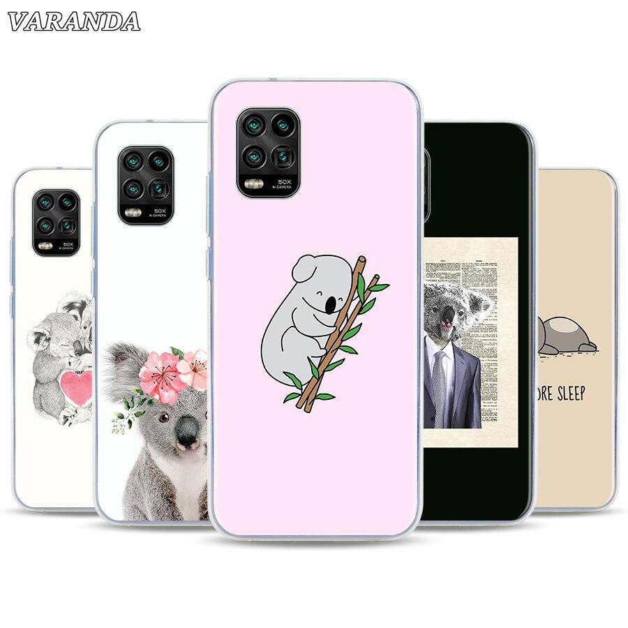 Funda de silicona para Xiaomi Mi 10 Poco, X2, F2, M2 Pro, A1, A2, 9, A3, 9T, CC9E, Note 10 Lite, 10 Pro, funda trasera para dormir, Koala Perezoso