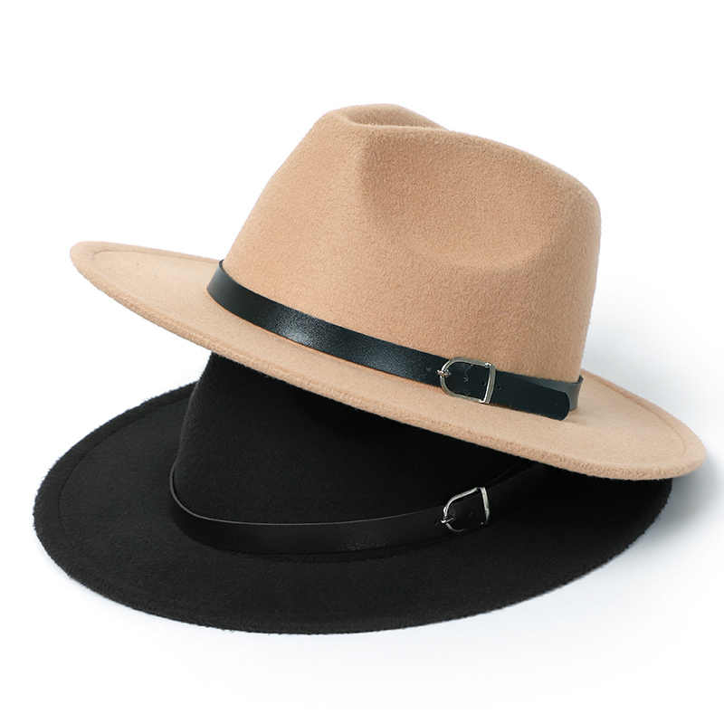 冬の Fedora 帽子女性男性模造ウールクラシック英国秋フラットトップ帽子 Laday フェルトジャズ Fedora の帽子男性