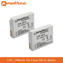 POWTREE NB-5L NB5L Rechargeable Battery for Canon NB-5L Powershot S100 SX200 SX230 HS SX210 IS SD890 IS SD800 IS SX200 IS SD790 3pcs probty nb 13l nb13l nb 13l battery for canon powershot g5x g7x g9x g7 x mark ii g9x mark ii sx620 hs sx720 hs camera