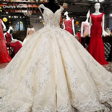LS02149 wholesale luxury wedding dresses beaded cap sleeve lace up aliexpress beauty bridal gown 2018 latest design