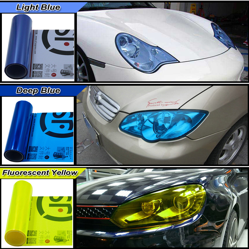 Image 3 - Carcardo 30cm x 200cm Car Headlight Taillight Tint Vinyl Film Sticker Car Fog Light Rear Lamp Viny Stickers  13 Color option-in Car Stickers from Automobiles & Motorcycles