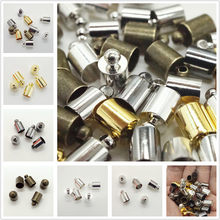 50pcs/lot End Tip Cap Fit For 3 4 5 6 8mm Tassel Leather Cord End Crimp Cap Beads Caps For DIY Jewelry Making Supplies