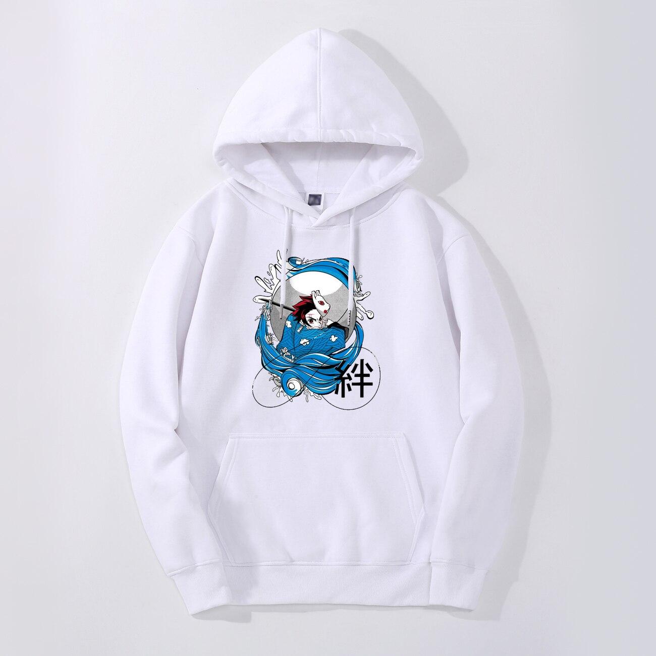 Demon Slayer Kimetsu No Yaiba Men Hoodies Sweatshirt Fleece Hooded Autumn Winter Streetwear Warm Casual Bonds Japan Anime Hoodie