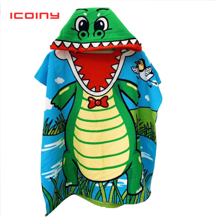 Animal Baby Hooded Bath Towel Children Kids Bathrobe Towels Bath Robe Quick Dry Absorbent Microfiber Travel Sports Beach Towel