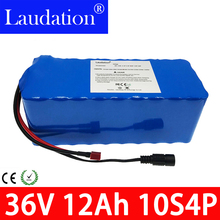 36v lithium battery 12AH battery pack 20A500W built-in BMS for electric bicycle 10S4P 18650 battery Saving battery free shipping цена и фото