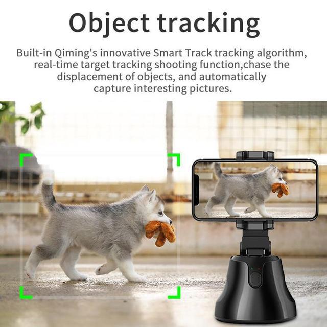 Smart Shooting Selfie Stick Smartphone Holder Mount 360 Rotation Auto Face Tracking Object Tracking vlog Camera Phone Holder 3