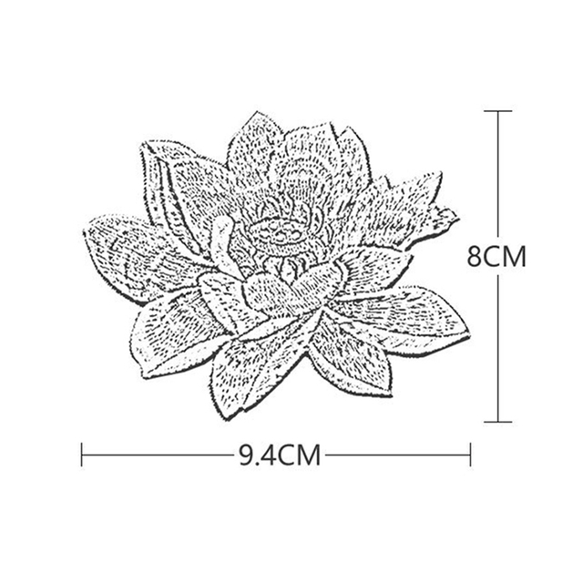 аппликация для одежды lotus на заказ вышитая нашивка с цветами фотография