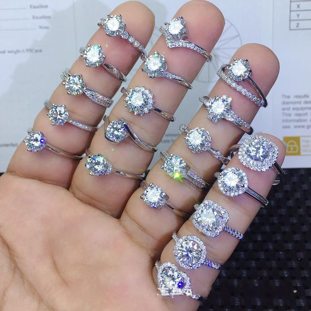 90% de réduction amoureux Lab diamant promesse bague 925 en argent Sterling fiançailles bague de mariage anneaux pour femmes hommes Fine fête bijoux cadeau 3