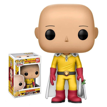 FUNKO POP ONE PUNCH-MAN Saitama #257 Action Figure Toys Anime Figure Models Dolls for Kids Birthday Gifts 2