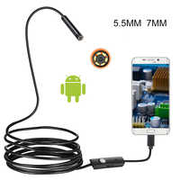 5.5mm 7mm HD Flexible IP67 Waterproof Inspection Borescope Camera Endoscope For PC Android Notebook Smartphone/Cars