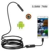 5.5mm 7mm hd ip67 flexível à prova dip67 água inspeção borescope câmera endoscópio para pc android notebook smartphone/carros|Câmeras de vigilância| |  -
