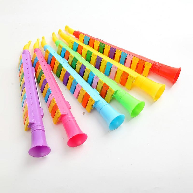 Scenic Area Hot Selling CHILDREN'S Toy Trumpet 13 Key Playing Button Hamonica Children Beginner Pronunciation Flute Wholesale