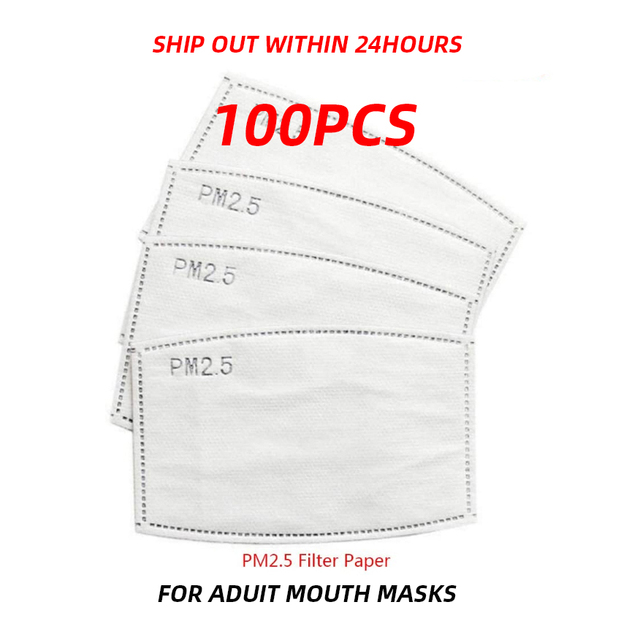 PM2.5 Activated Carbon disposable filter pad Insert Protective Filter for mouth Mask anti dust mask Flu-proof Filter