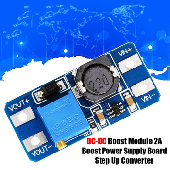 Newest DC-DC Boost Module 2A Boost Power Supply Board Step Up Converter Booster Input 3V 5V To 5V 9V 12V 24V Adjustable MT3608 image