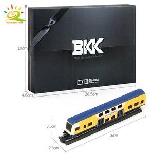 Image 5 - Huiqibao Speelgoed 4 Stks/set Simulatie Metalen Stoom Cargo Diecasts Trein High Speed Rail Legering Railway Inertiële Auto Speelgoed Voor Kinderen
