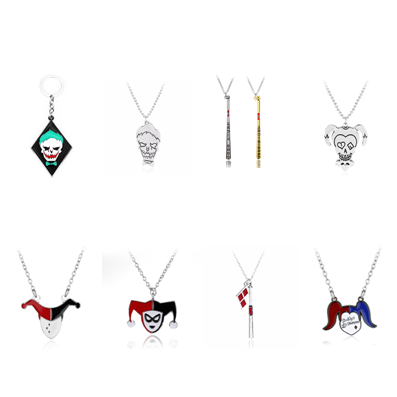 Joker /& Harley Quinn Charm Bracelet  /& Gift Bag Costume Jewellery Suicide Squad