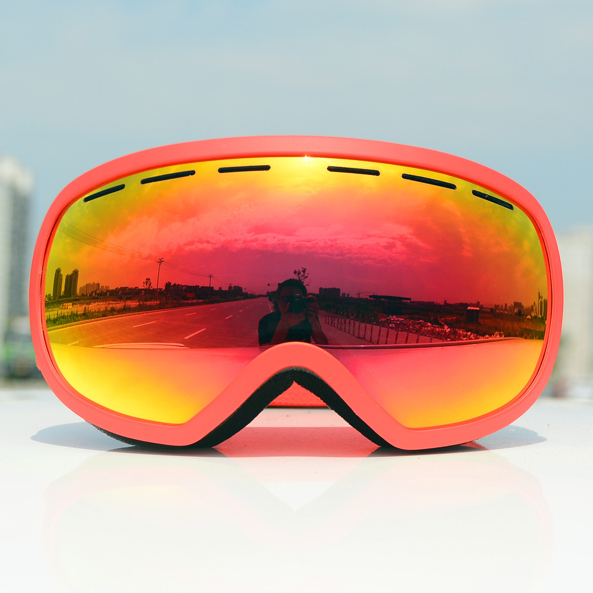 Hot Selling Cross Border Foreign Trade Comprehensive Really Revo Coatings Ski Goggles Cocker Myopia Glasses/Double Layer Anti-fo