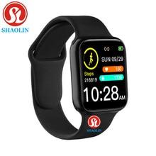38mm inteligentny zegarek tętno ciśnienie krwi Bluetooth mężczyzna kobieta Smartwatch dla Apple Android telefon PK IWO zegarki wodoodporne