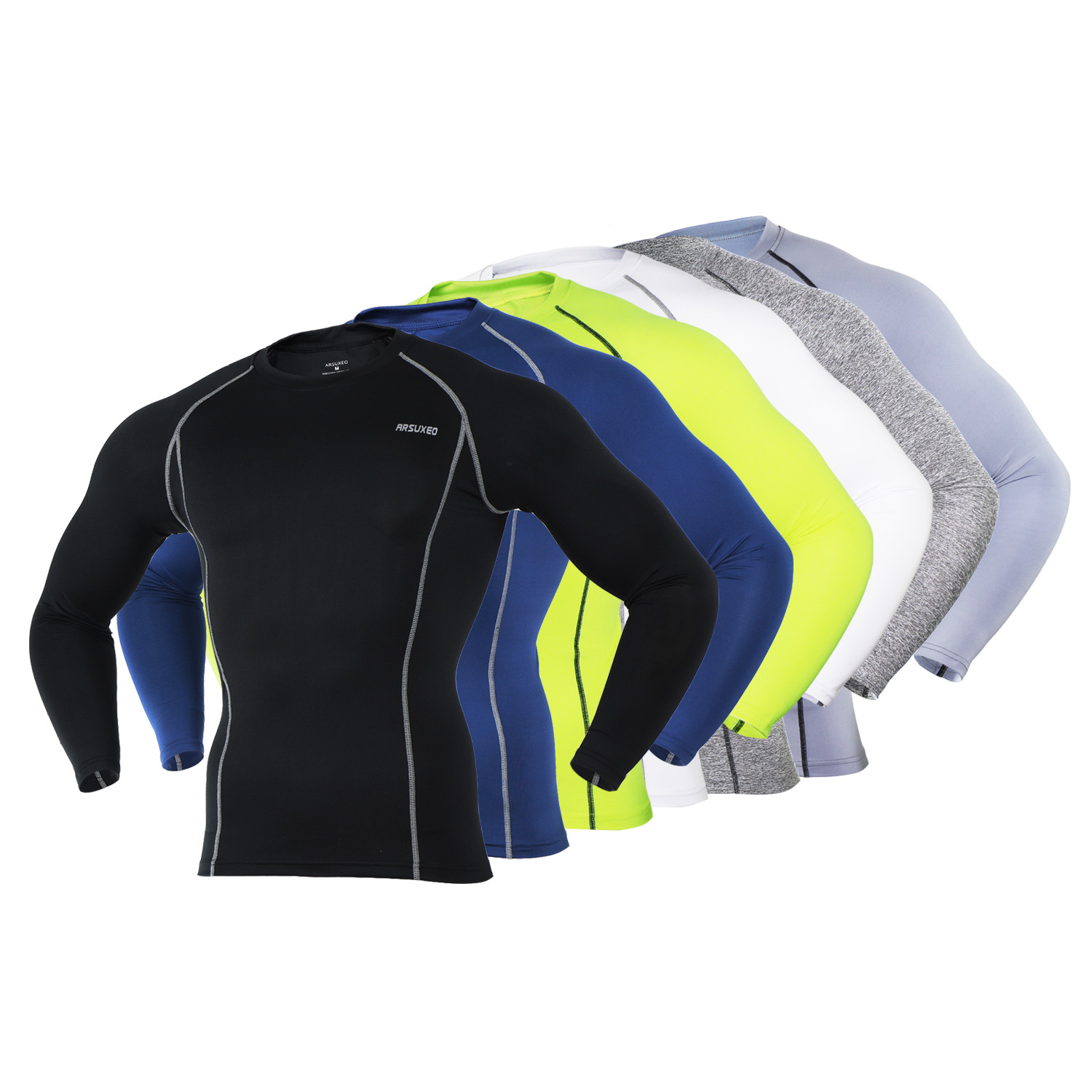 Men's Cycling Base Layer Sports Underwear Long Sleeve Compression Tight Running T-shirt Gym Fitness Weight Lifting Shirts