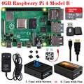 Kit d'origine Raspberry Pi 4 modèle B + boîtier ABS + ventilateur ou écran tactile 3.5 pouces + alimentation 3A type c + dissipateur de chaleur pour Raspberry Pi 4 4B