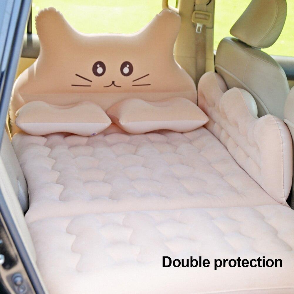 Flocking Car Inflatable Bed Multiple Purposes Car Mattress SUV Travel Bed Trunk Air Cushion Car Bed Sleeping Pad Camping Mat