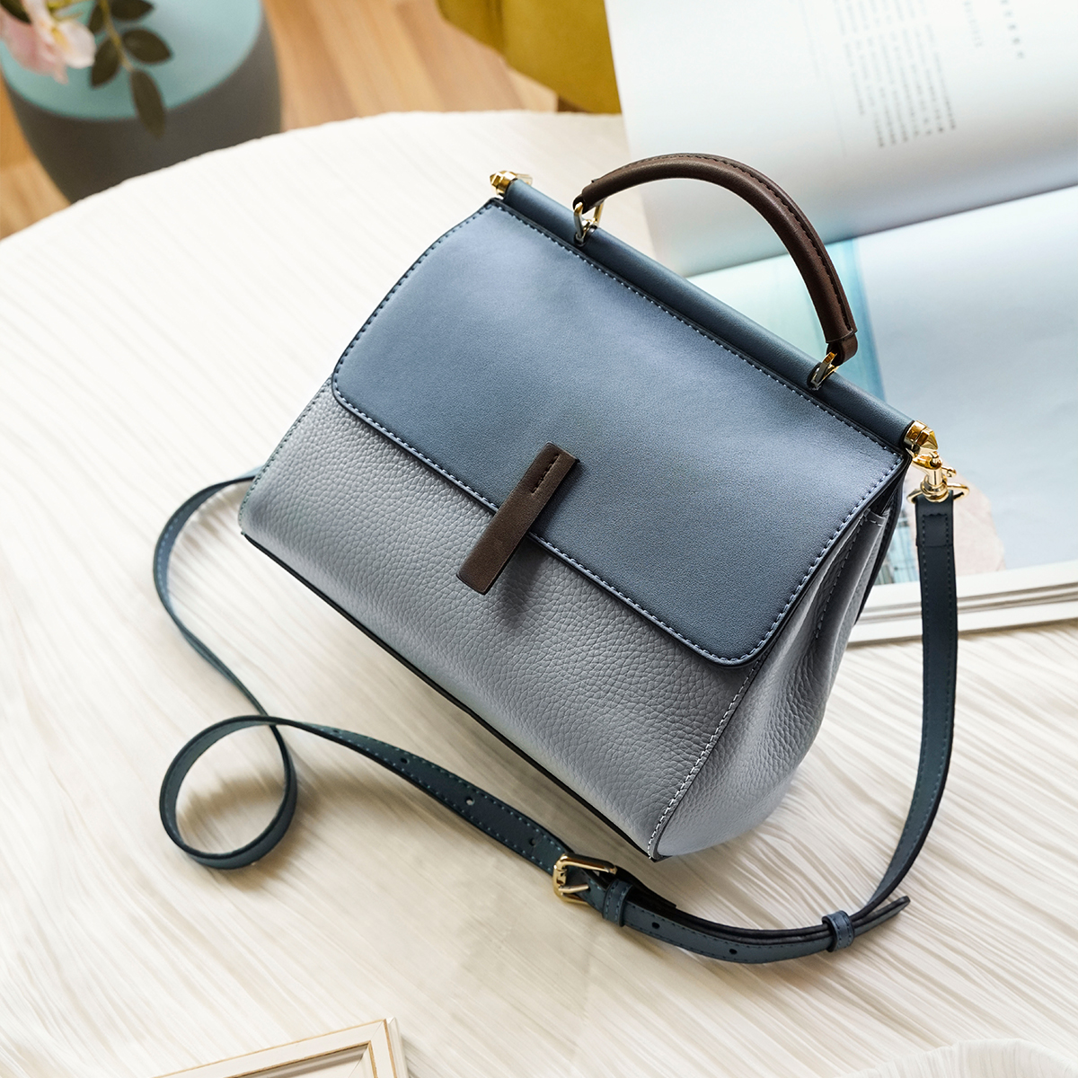 FOXER Lady's Crossbody Bags Genuine Lether Handbag Fall Winter Bag Large Capacity Office Women Tote Commuter Style Shoulder Bag Shoulder Bags  - AliExpress