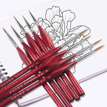 6Pcs/Set Paint By Numbers Brushes Extra Fine Detail Paint Brushes Artist Miniature Model Maker Tool Set For Oil Painting Gouache