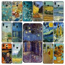 Maiyaca Van Gogh Starry Night Oil Painting Phone Case untuk Xiaomi Redmi8 4X 6A S2 Pergi Redmi 5Plus note4 5 7 Note8Pro(China)
