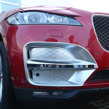 Front bumper sticker intake vents fog lights cover decorative trim for Jaguar fpace F-pace enterior Accessories