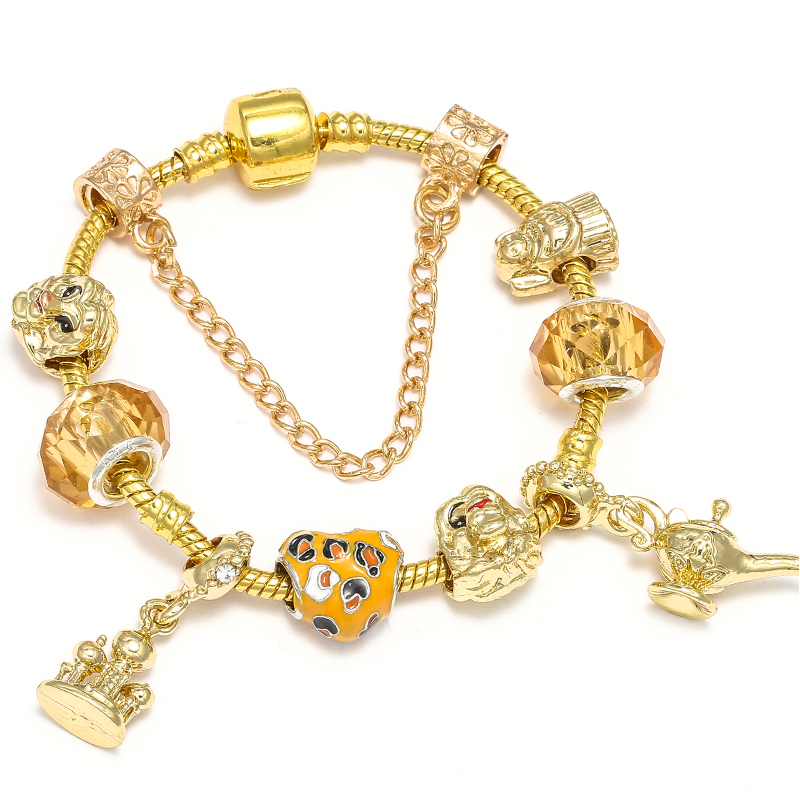 BAOPON Прямая поставка винтажные Подвески серебряного цвета браслеты для женщин DIY Кристальные бусины изящные браслеты для женщин Pulseira ювелирные изделия - Окраска металла: Type 24