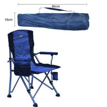 Sillas de Camping resistentes para adultos, silla de césped plegable resistente con...
