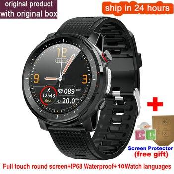 L15 Smart Watch Men 1.3inch Full-fit Round Retina Display Music Control Camera Flashlight PK L5 L9 Smartwatch IP68 Waterproof 13